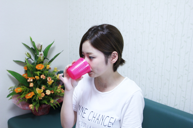 施術後はお水を飲んで下さい